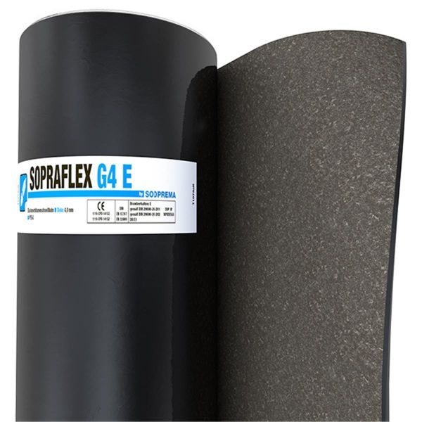 SOPRAFLEX G4E Sand/Folie | Abm.: 5 m x 1,0 m (5 m²/Rolle) | 30 Rollen/Palette
