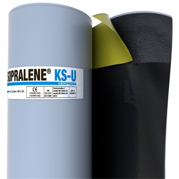 SOPRALENE KS-U Folie/KSP | Abm.: 7,5 m x 1,0 m (7,5 m²/Rolle) | 24 Rollen/Palette