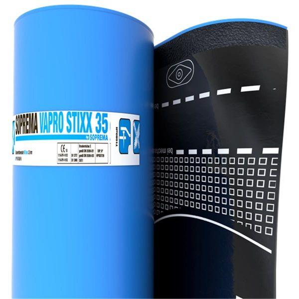 SOPREMA VAPRO STIXX 35 Folie/KSP | Abm.: 7,5 m x 1,0 m (7,5 m²/Rolle) | 24 Rollen/Palette