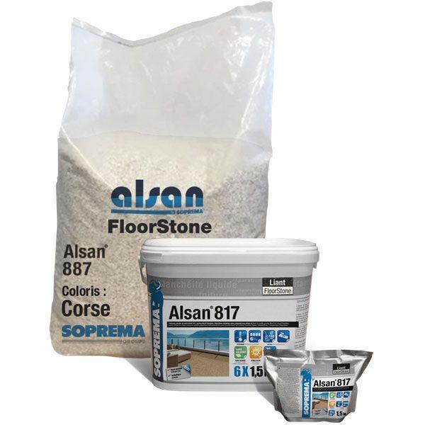ALSAN 887 | abgerundetes gefärbtes Naturmarmorgranulat | 25 kg/Sack