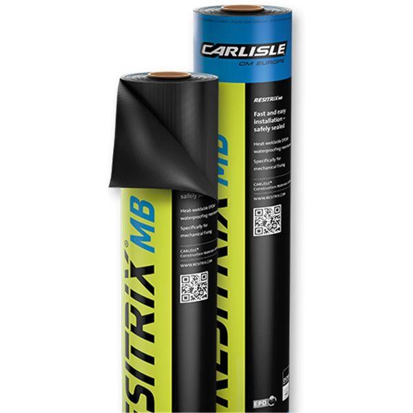 RESITRIX® MB | EPDM Abdichtungsbahn für mechnische Befestigung | 1,0 x 10 m | 3,1 mm Stärke