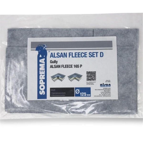 ALSAN QUADRO Vlies | 165 P | Set D für Gully 125 mm