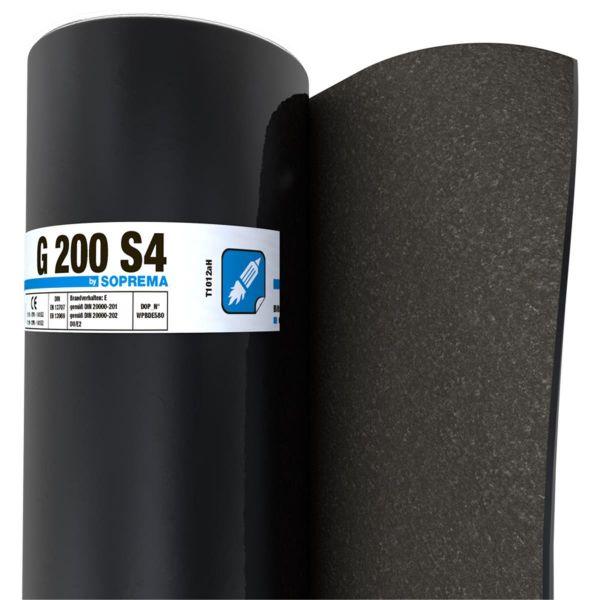 SOPREMA G200 S4 Sand/Folie | Abm.: 5 m x 1,0 m (5 m²/Rolle) | 30 Rollen/Palette