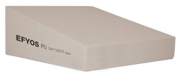 EFYOS Gefälle - PIR WLS 026/028 DAA ds = 150 kPa Abm.: 1.200 x 1.200 mm Kaschierung: unkaschiert
