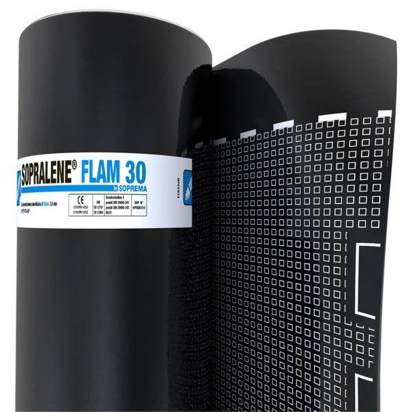SOPRALENE FLAM 30 Folie/Folie | Abm.: 10 m x 1,0 m (10 m²/Rolle) | 20 Rollen/Palette