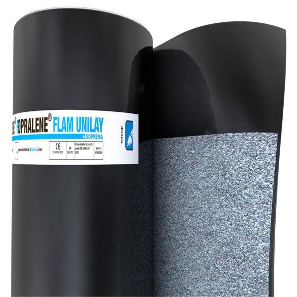 SOPRALENE FLAM UNILAY Schiefer/Folie | Abm.: 6 m x 1,0 m (6 m²/Rolle) | 24 Rollen/Palette