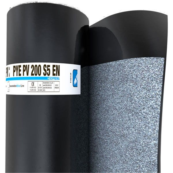 SOPREMA PYE PV200 S5 EN Schiefer | Abm.: 5 m x 1,0 m (5 m²/Rolle) | 24 Rollen/Palette