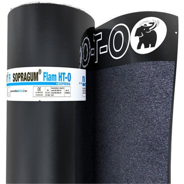 SOPRAGUM FLAM HT-O Schiefer/Folie | Abm.: 5 m x 1,0 m (5 m²/Rolle) | 24 Rollen/Palette