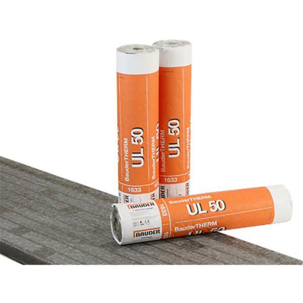 Bauder UL 50 Vlies/THERM-Streifen | Abm.: 7,5 m x 1,0 m (7,5 m²/Rolle) | 20 Rollen/Palette