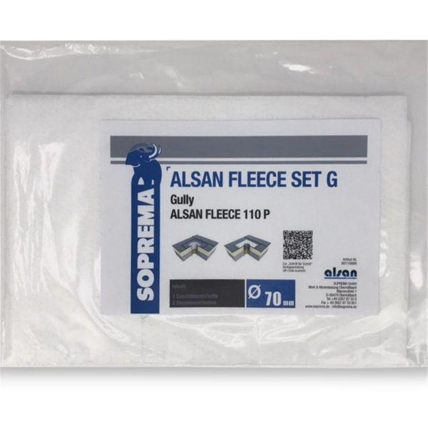 ALSAN PMMA Vlies | 110 P | Set G für Gully 70 mm