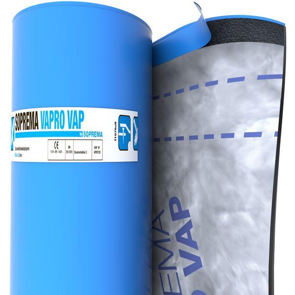 SOPREMA VAPRO VAP Vlies/KSP | Abm.: 7,5 m x 1,08 m (8,10 m²/Rolle) | 24 Rollen/Palette