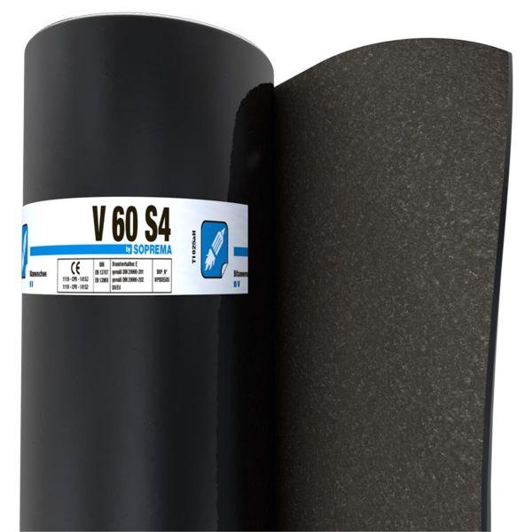 SOPREMA V60 S4 Sand/Folie | Abm.: 5 m x 1,0 m (5 m²/Rolle) | 30 Rollen/Palette