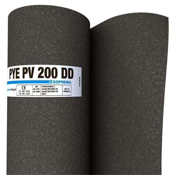 SOPREMA PYE PV200 DD Sand/Sand | Abm.: 10 m x 1,0 m (10 m²/Rolle) | 20 Rollen/Palette